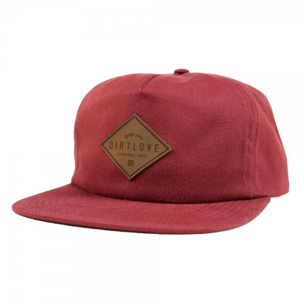 Dirt Love DL Diamond Strapback - burgundy