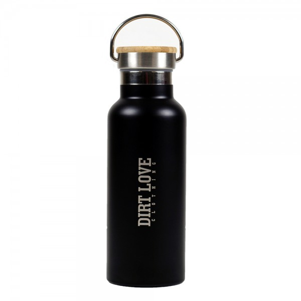 DIRT LOVE INSULATED BOTTLE-BLACK