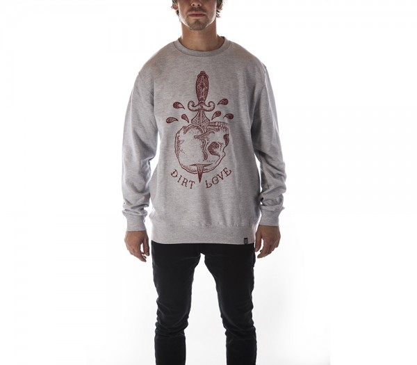 SKULL CREWNECK - HEATHER